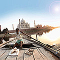 Taj In Sun Light by Ratan Sonal