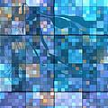 Take Me Geometric Blue by Mayhem Mediums