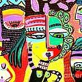 Talavera Dancers by Sandra Silberzweig