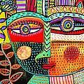 -talavera Owl Goddess by Sandra Silberzweig