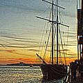 Tall Ship In Manhattan by Alex AG