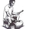Tambourine Man by Emmanuel Baliyanga
