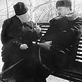 Tamm And Kurchatov, Soviet Physicists by Ria Novosti
