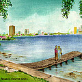 Tampa Fl Little Pier At Ballast Point by Frank Hunter