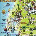 Tampa Florida Cartoon Map by Kevin Middleton