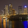 Tampa Nighttime Skyline by Paer Hansson
