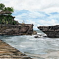 Tanah Lot Temple II Bali Indonesia by Melly Terpening