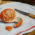 Tangerine And Knife by Thor Wickstrom