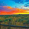 Taos Sunset Ix by Charles Muhle
