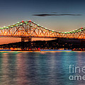 Tappan Zee Bridge Twilight I by Clarence Holmes