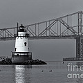 Tarrytown Lighthouse And Tappan Zee Bridge Viii by Clarence Holmes