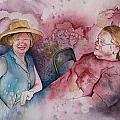 Taylor And Chuck At The Picnic by Patsy Sharpe