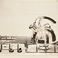 Tea Kettle On Stove by Andersen Ross