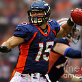 Tebow At Denver Broncos by Herb Paynter