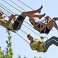 Teenagers On Fairground Ride by Ria Novosti