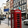 Telephone Box In London by Elena Elisseeva