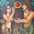 Temptation Of Adam And Eve  by Rae Chichilnitsky