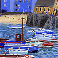 Painting Tenby Harbour With Boats by Edward McNaught-Davis