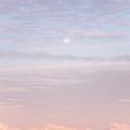Tender Welcoming Sky Over Spain. Full Moon by Jenny Rainbow