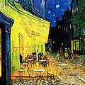 Terrace Of The Cafe On The Place Du Forum In Arles In The Evening by Pg Reproductions