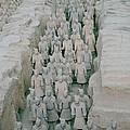 Terracotta Warriors In Xian In China by Shaun Higson