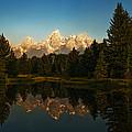 Teton Reflections by Ron Sloan
