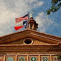 Texas State Capitol Building In Digital Oil by Sarah Broadmeadow-Thomas