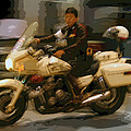 Thai Motorbike Police by Kantilal Patel