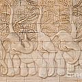 Thai Style Handcraft Of Elephant by Phalakon Jaisangat