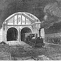 Thames Tunnel: Train, 1869 by Granger