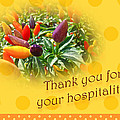 Thank You For Your Hospitality Greeting Card - Decorative Pepper Plant by Mother Nature