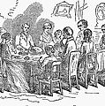 Thanksgiving Dinner, 1850 by Granger