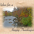 Thanksgiving Greeting Card - Autumn Creek by Mother Nature