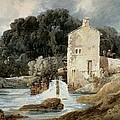 The Abbey Mill - Knaresborough by Thomas Girtin