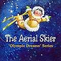 The Aerial Skier - Book Cover by Hanne Lore Koehler