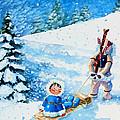 The Aerial Skier - 1 by Hanne Lore Koehler