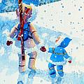 The Aerial Skier - 2 by Hanne Lore Koehler