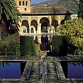 The Alhambra Palace Of The Partal by Guido Montanes Castillo