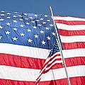 The American Flag Hangs by Stocktrek Images