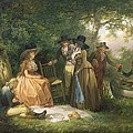 The Angler's Repast  by George Morland