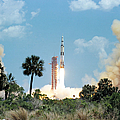 The Apollo 16 Space Vehicle Is Launched by Stocktrek Images