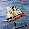 The Apollo 8 Capsule Being Hoisted by Stocktrek Images