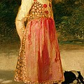 The Artist's Daughter - Hilde   by Frederich August Kaulbach