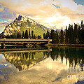 The Banff Bridge Reflected by Tara Turner