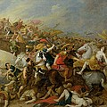 The Battle Between The Amazons And The Greeks by Pauwel Casteels