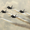 The Blue Angels Perform Their Delta by Stocktrek Images