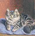 The Blue Cushion by Horatio Henry Couldery