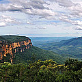 The Blue Mountains - Panoramic View by Kaye Menner