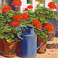 The Blue Watering Can by Anthony Rule