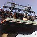 The Bridge Building Platform Being Used In The Construction Of The Delhi Metro by Ashish Agarwal
